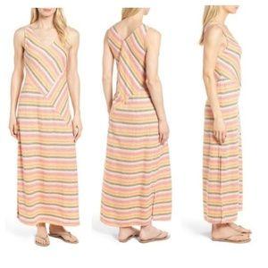 NWT Caslon Sleeveless V Neck Woven Maxi Dress